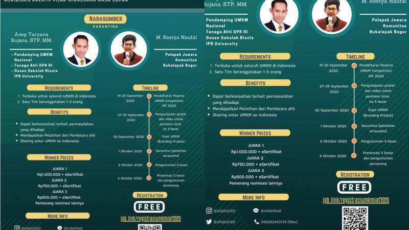 Indonesia Agribusiness Fair IPB 2020, 1 Oktober 2020, Juri