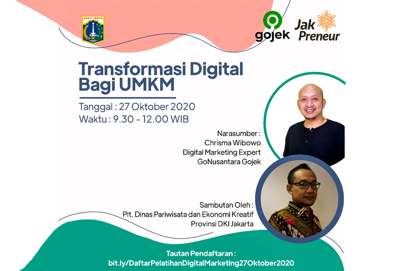 Gojek – Parekraf, 27 Oktober 2020, Transformasi Digital Untuk UMKM