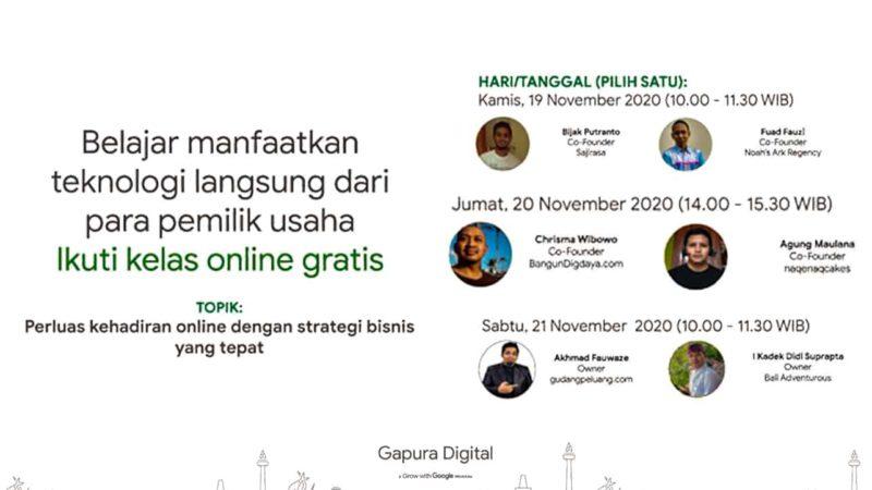 Gapura Digital, 20 November 2020, Perluas Kehadiran Online Dengan Strategi Bisnis Yang Tepat