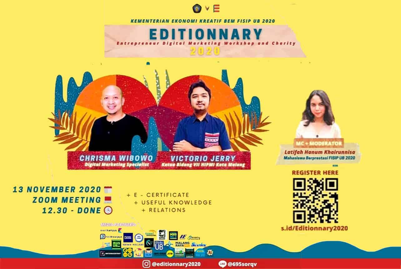 Editionnary 2020, 13 November 2020, Strategi Marketing Yang Ampuh Dalam Membangun Sebuah Bisnis